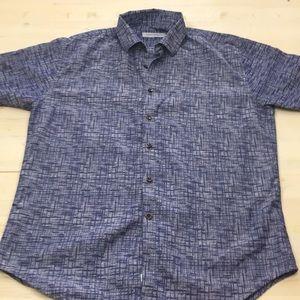 James Campbell short sleeve button down shirt sz L
